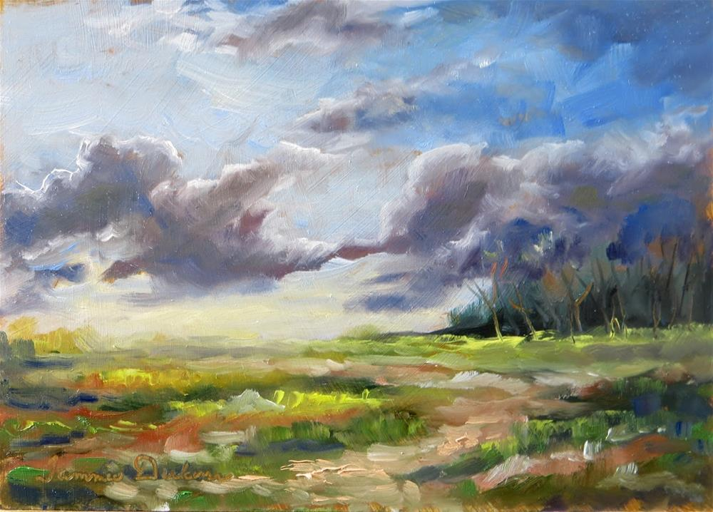 """April Cloudplay"" original fine art by Tammie Dickerson"