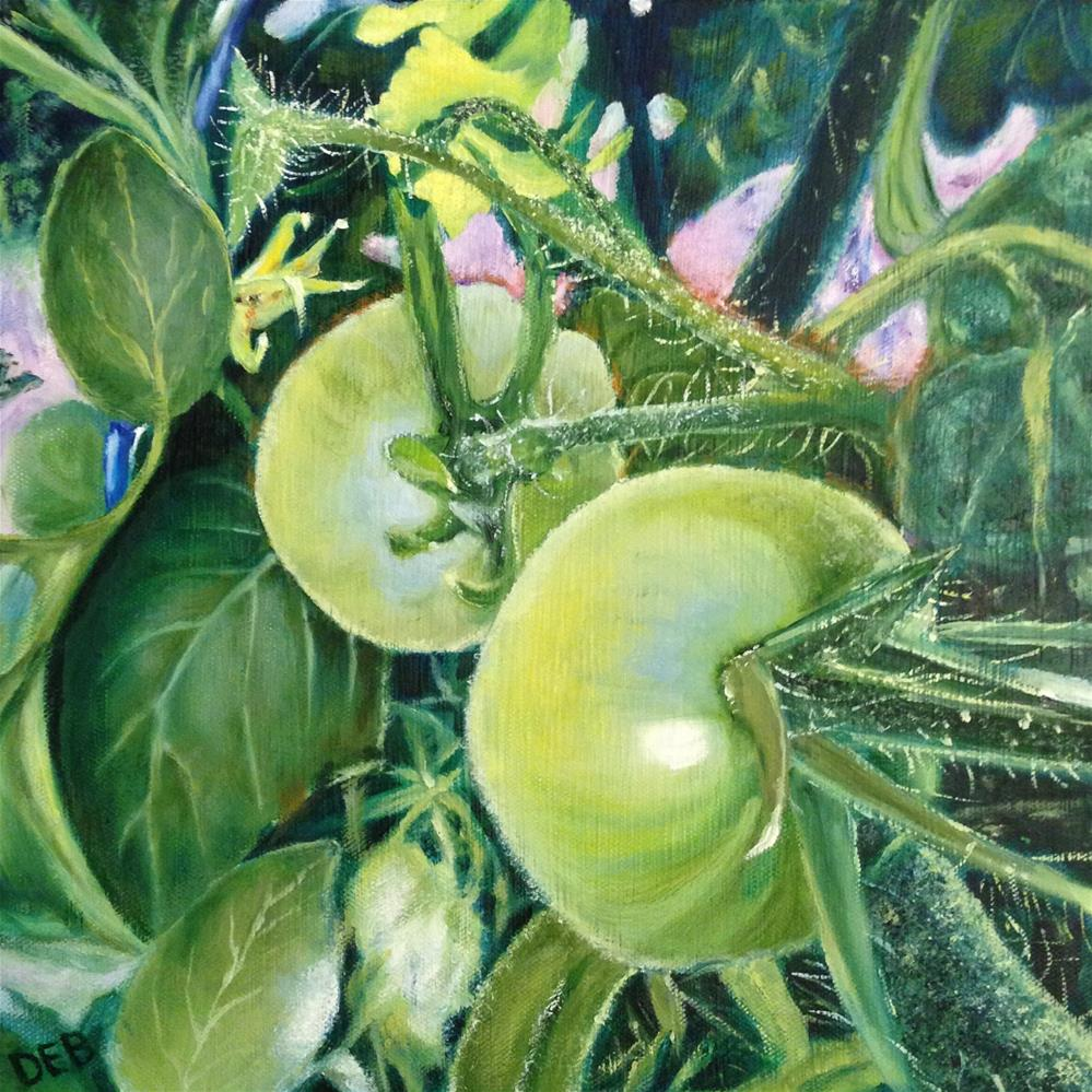 """Young and Green"" original fine art by Debbie Yacenda"