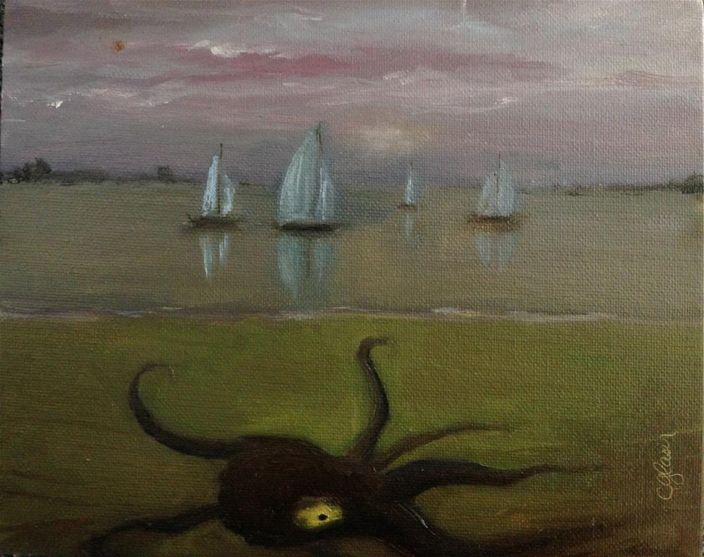 """frisky kraken"" original fine art by christina glaser"