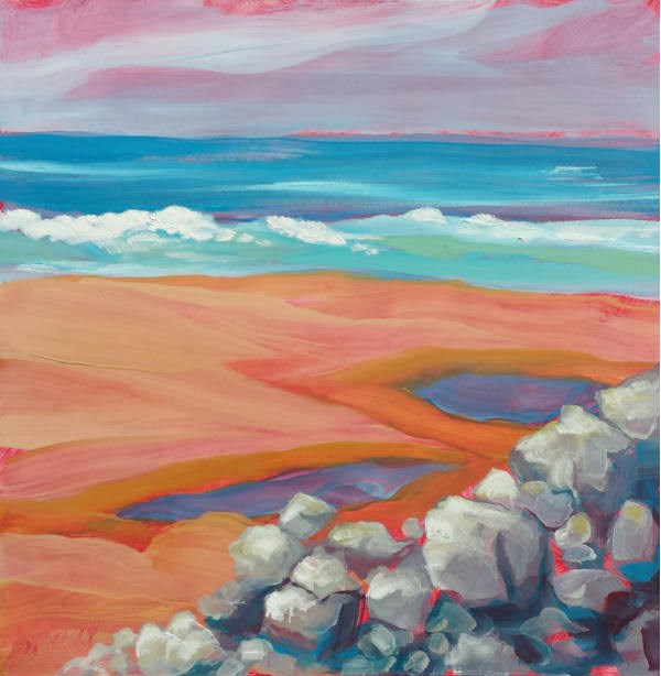 """Lincoln Beach 3"" original fine art by Pam Van Londen"