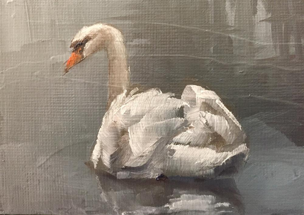 """Swan"" original fine art by Gary Bruton"