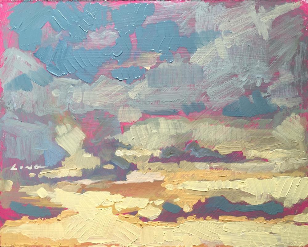 """""""Sunrise, Butte MT"""" original fine art by Chris Long"""