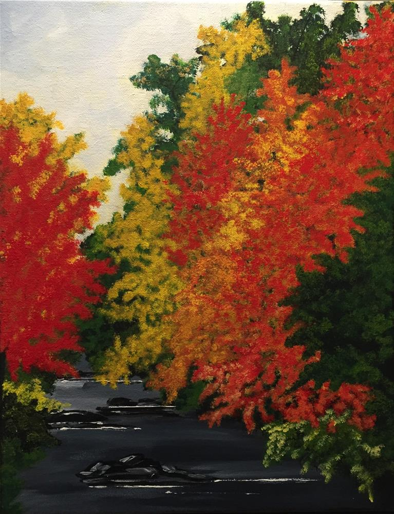 """A Rainy Autumn Day"" original fine art by Jennifer Maximenko"