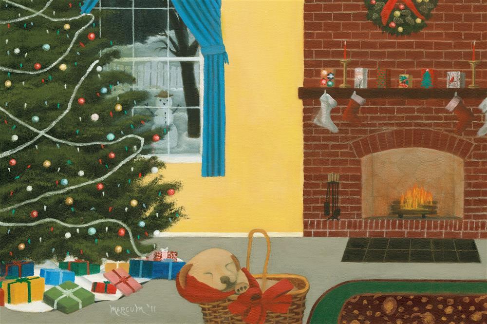 """A Christmas Remembered"" original fine art by John Marcum"