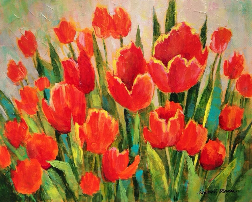 """Tulip Festval"" original fine art by Nancy F. Morgan"