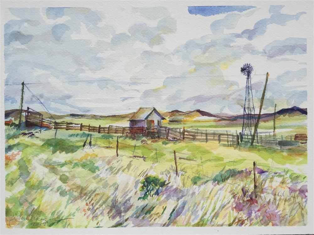 """Working Ranch, Westcliffe, CO"" original fine art by Jean Krueger"