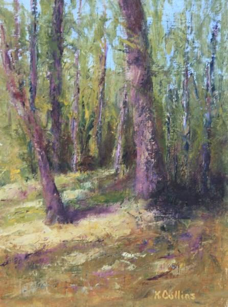 """Autumn Light"" original fine art by Kathy Collins"