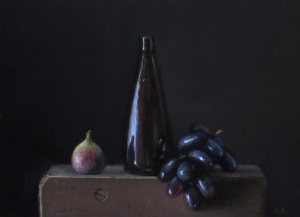 """Temple Bottle with Grapes and Fig"" original fine art by Darla McDowell"
