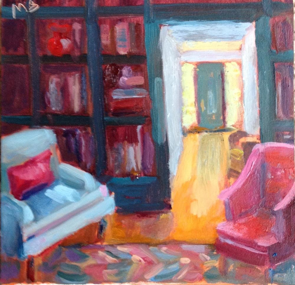 """Professor Plum in the Library"" original fine art by Marcia Bergtholdt"