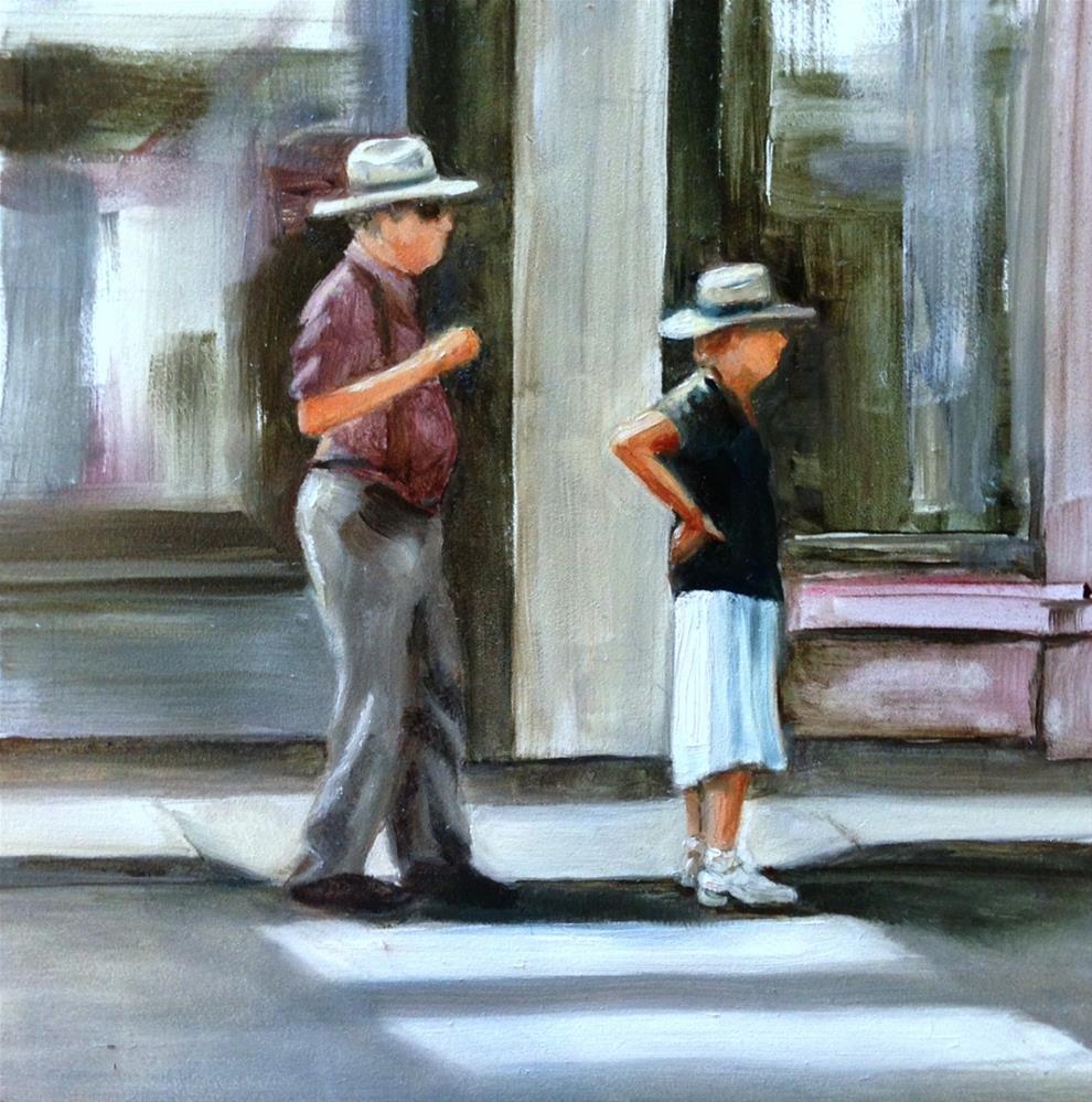 """Keep Up, Harry"" original fine art by Beth Moreau"