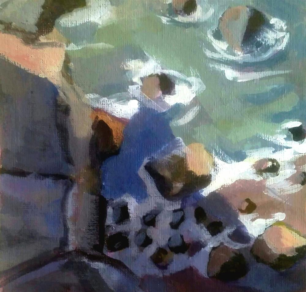 """Rocky Shore"" original fine art by Liz Maynes"