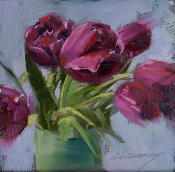 """Magenta Lovelies"" original fine art by Patricia Canney"