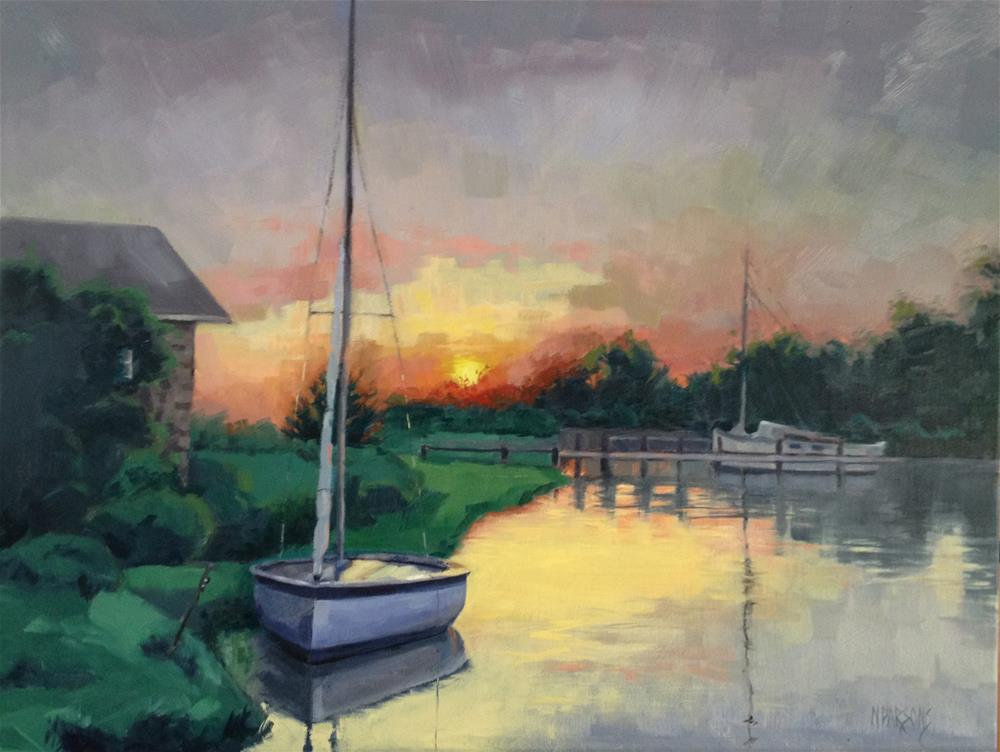 """At Ease"" original fine art by Nancy Parsons"