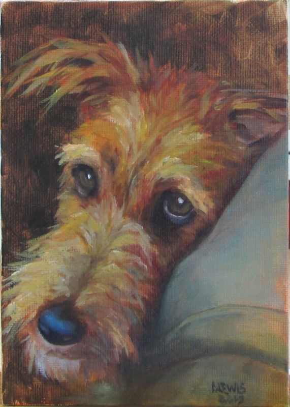 """Mable"" original fine art by Christine Lewis"