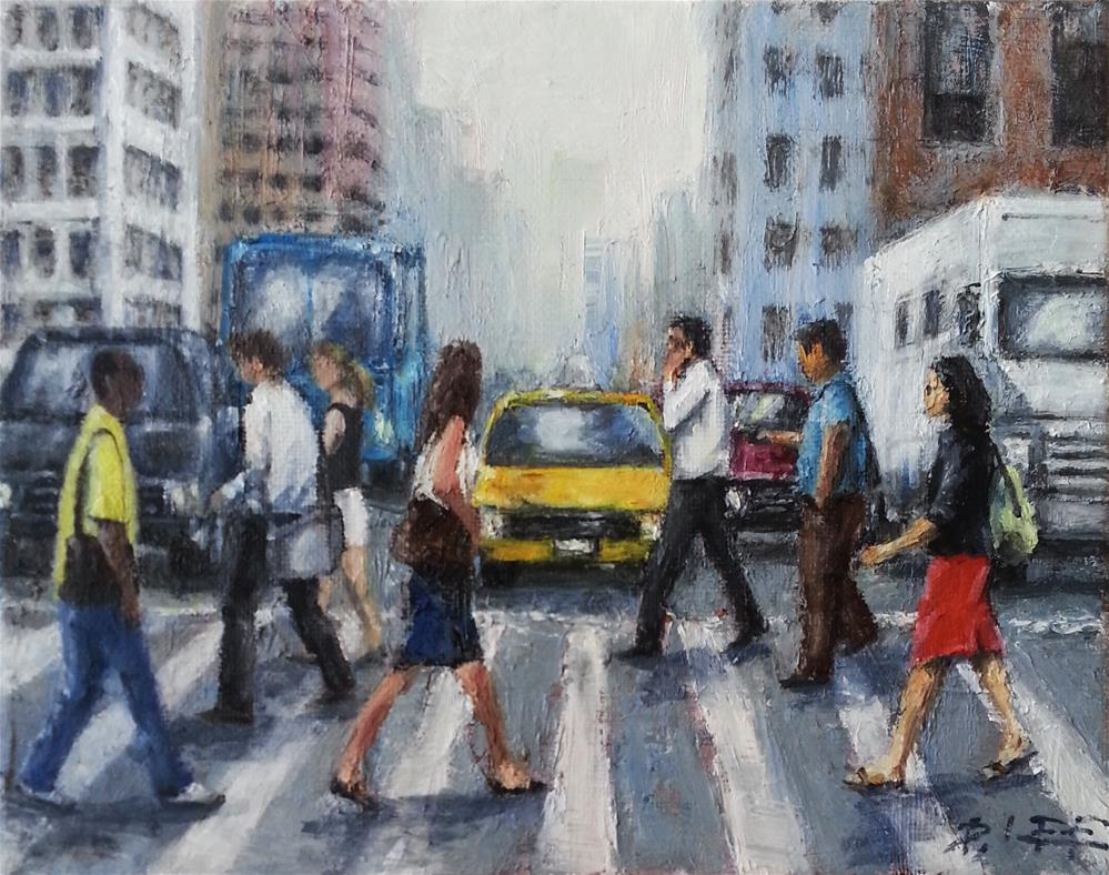 """crosswalk"" original fine art by Peter Lee"