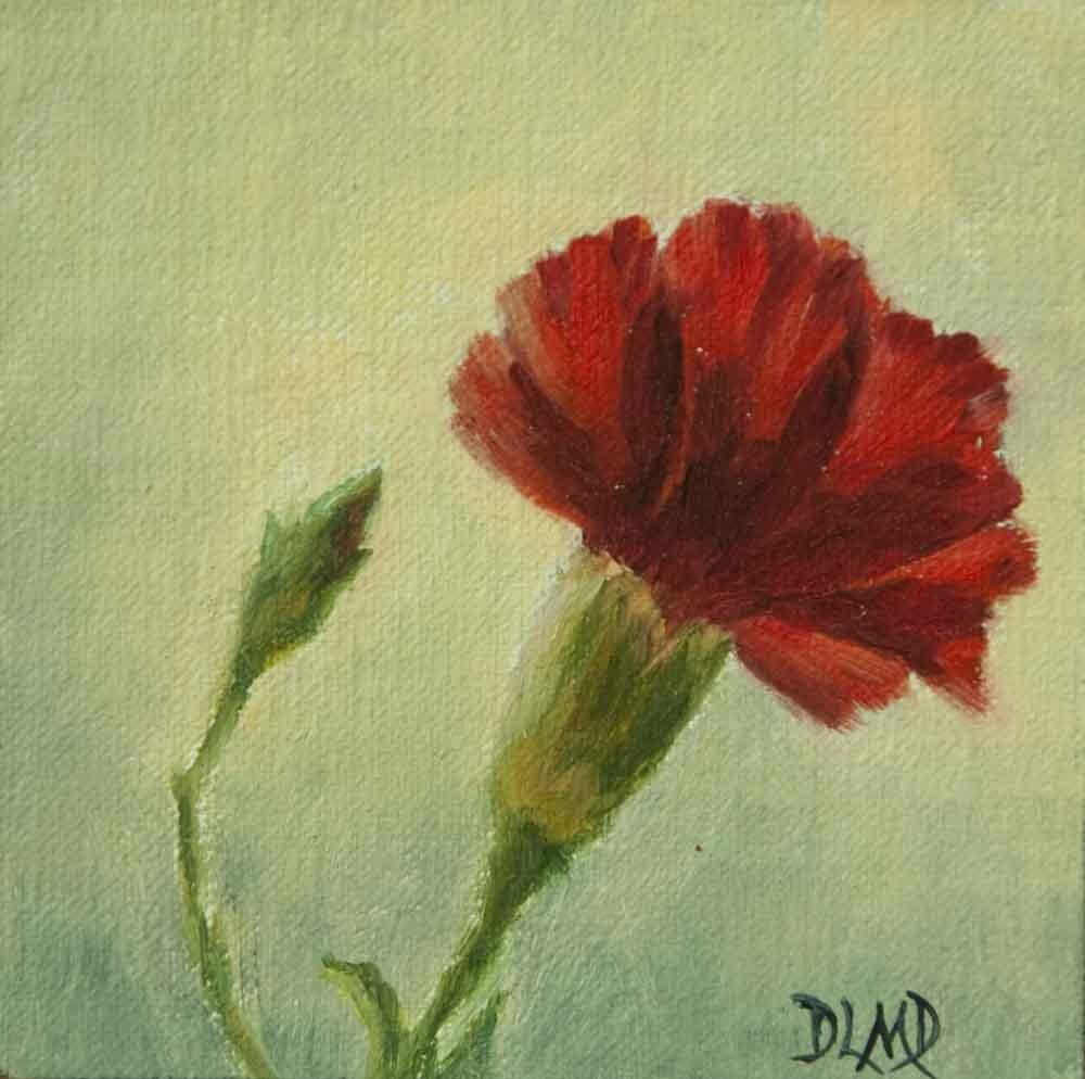 """Red's Vibrance"" original fine art by Debbie Lamey-Macdonald"