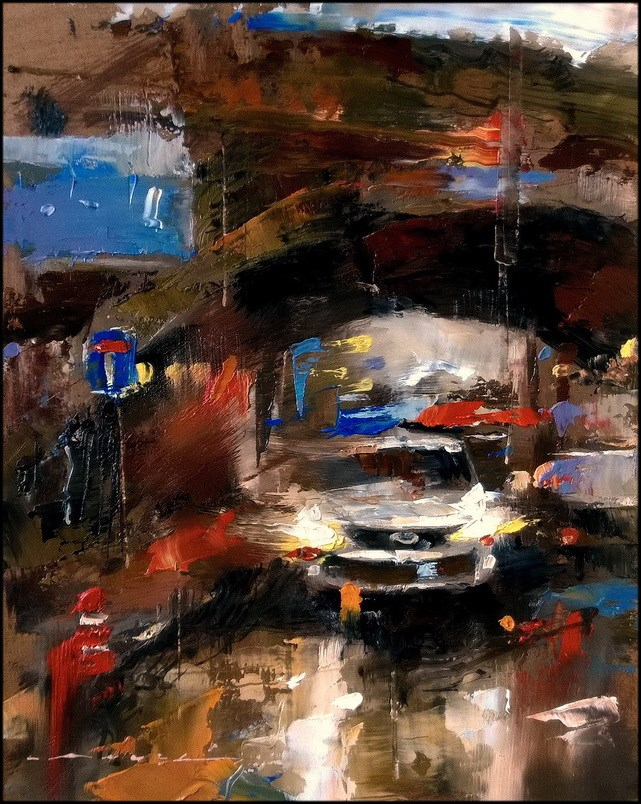 """City Traffic_015"" original fine art by Angel Angelov"