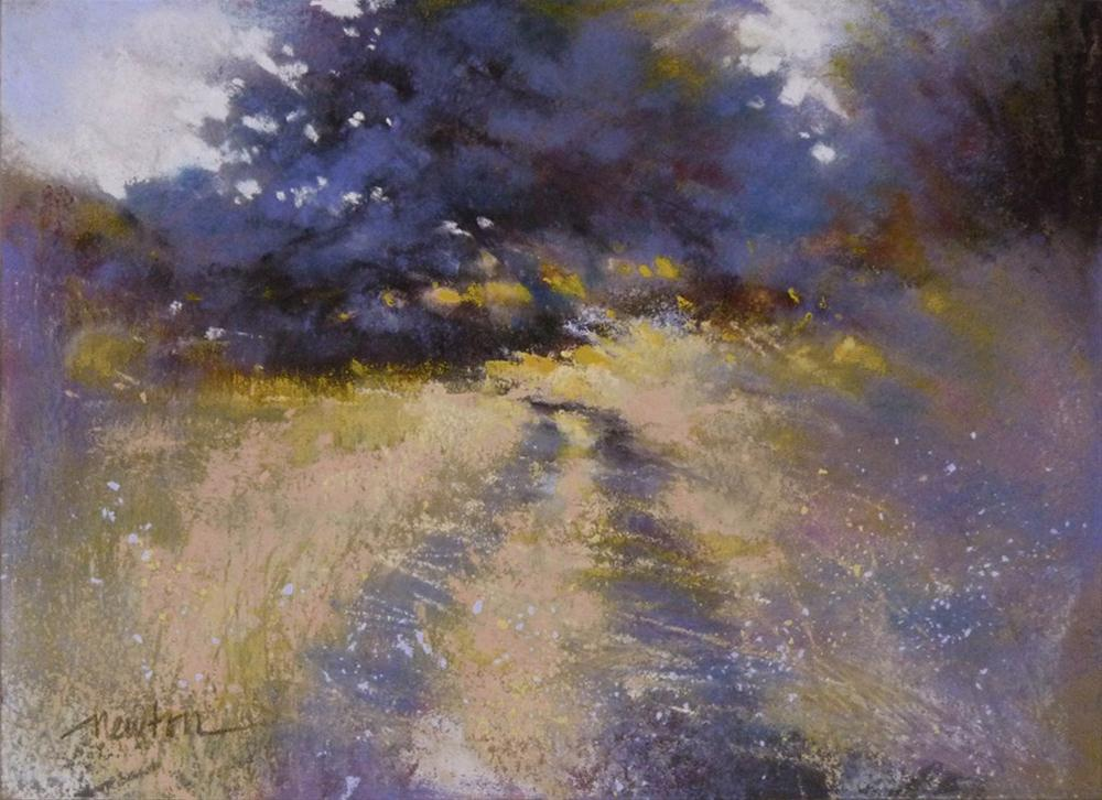 """Color Study for Meadow Road"" original fine art by Barbara Benedetti Newton"