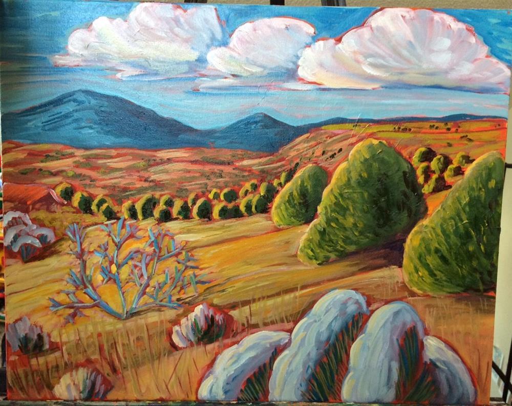 """A New Mexico quiet scape"" original fine art by Robyn Wellman"