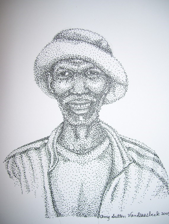 """South African Man"" original fine art by Amy VanGaasbeck"