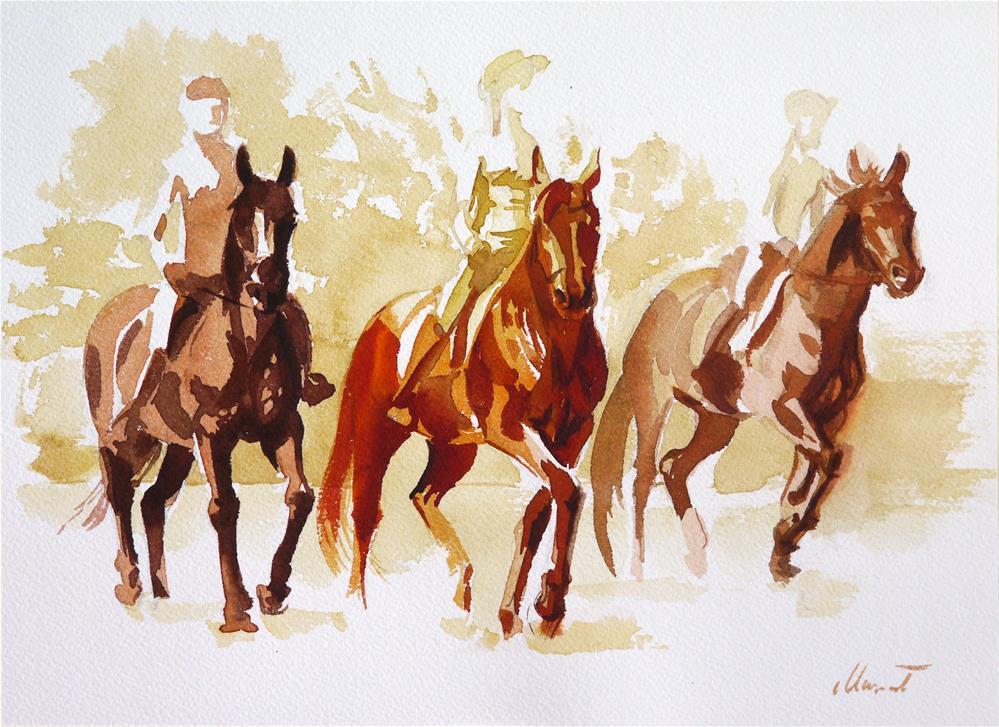"""trio"" original fine art by Beata Musial-Tomaszewska"