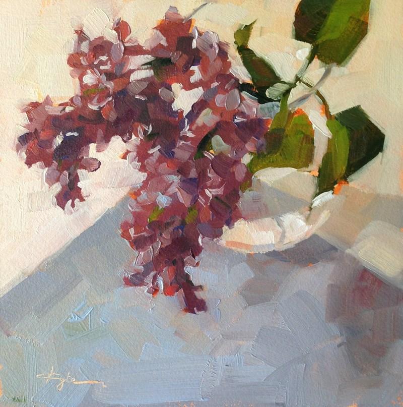 """Lilac on Blue"" original fine art by Katia Kyte"