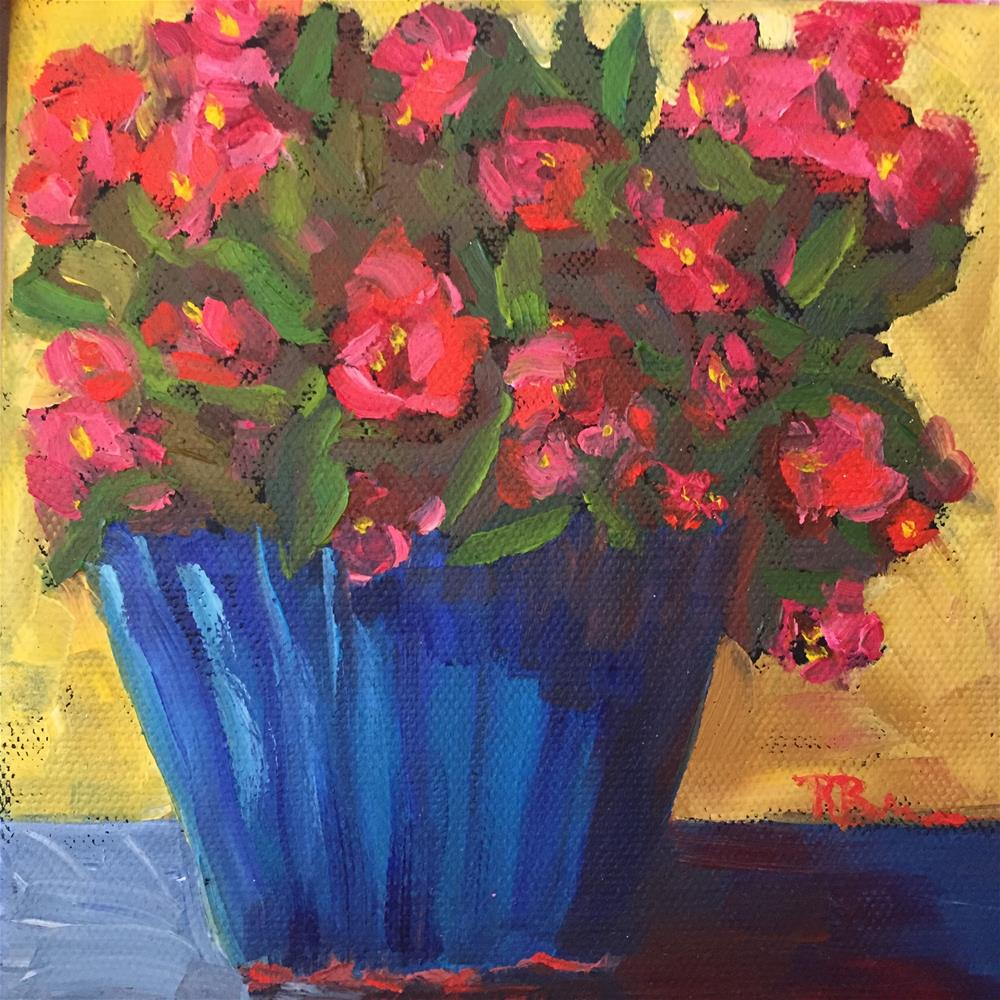 """Begonias"" original fine art by Rose Brenner"