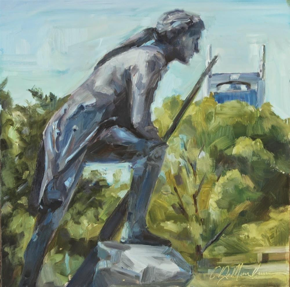 """Timothy Demonbreun Statue, Nashville, Tennessee, Original oil by Carol DeMumbrum"" original fine art by Carol DeMumbrum"