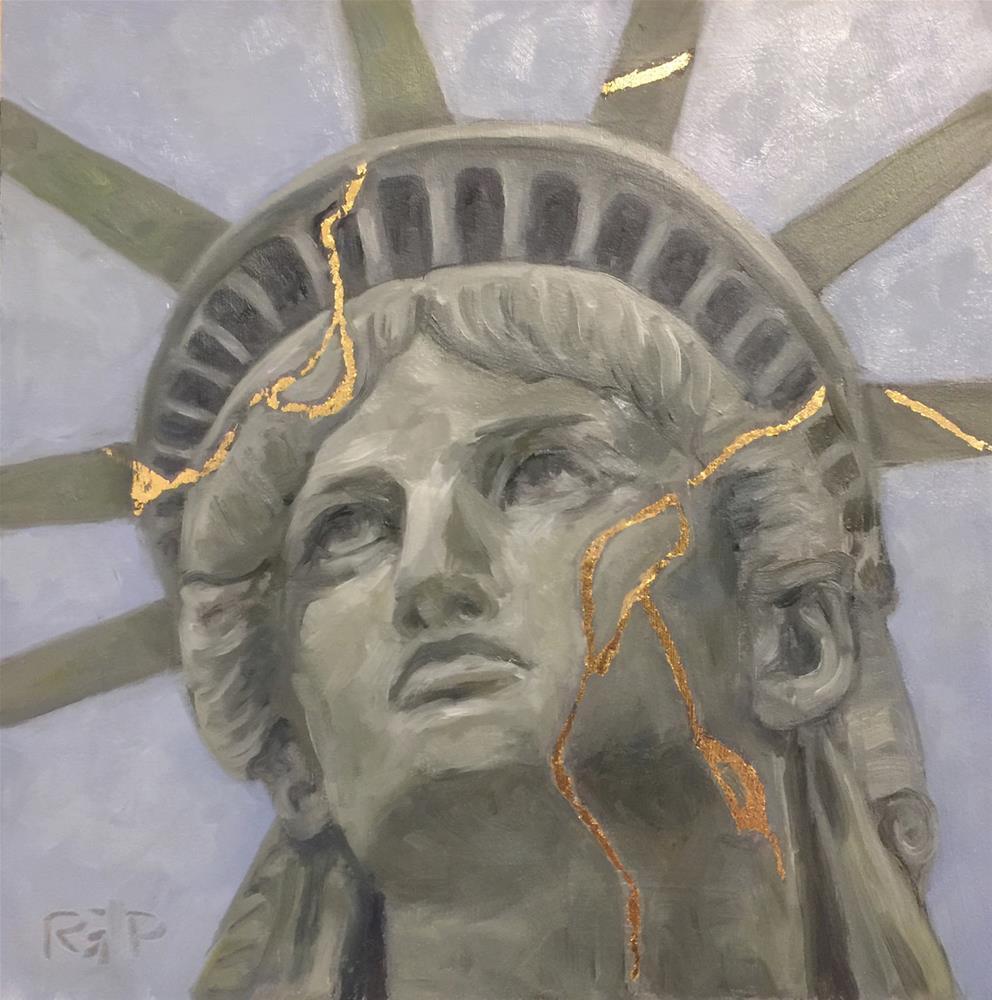 """Lady Liberty"" original fine art by Rhea  Groepper Pettit"