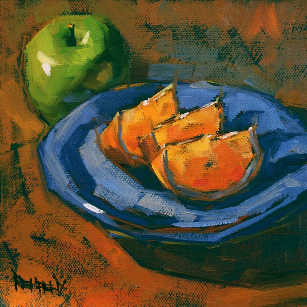 Apple and Oranges original fine art by Cathleen Rehfeld