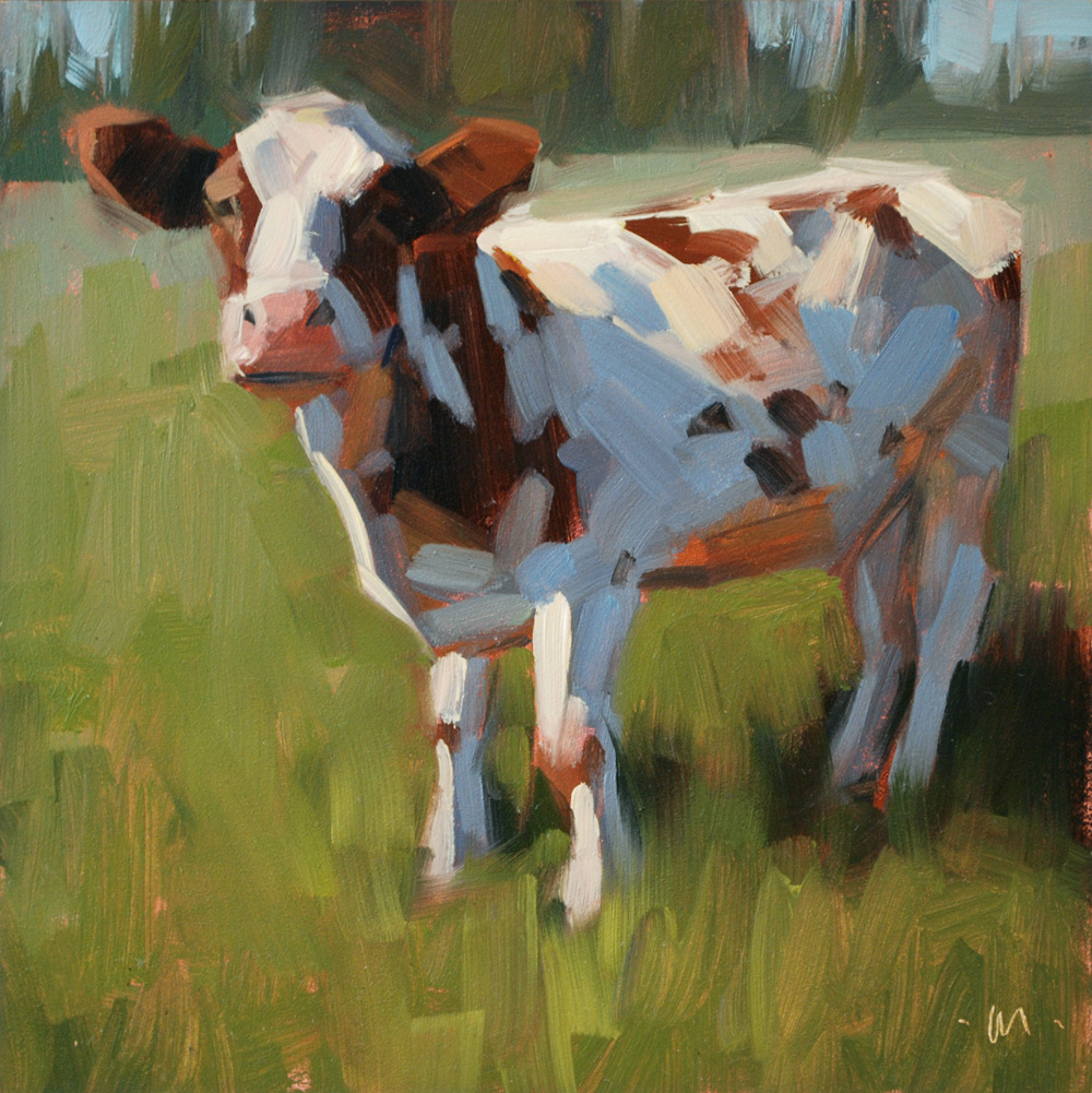 """Moo"" original fine art by Carol Marine"