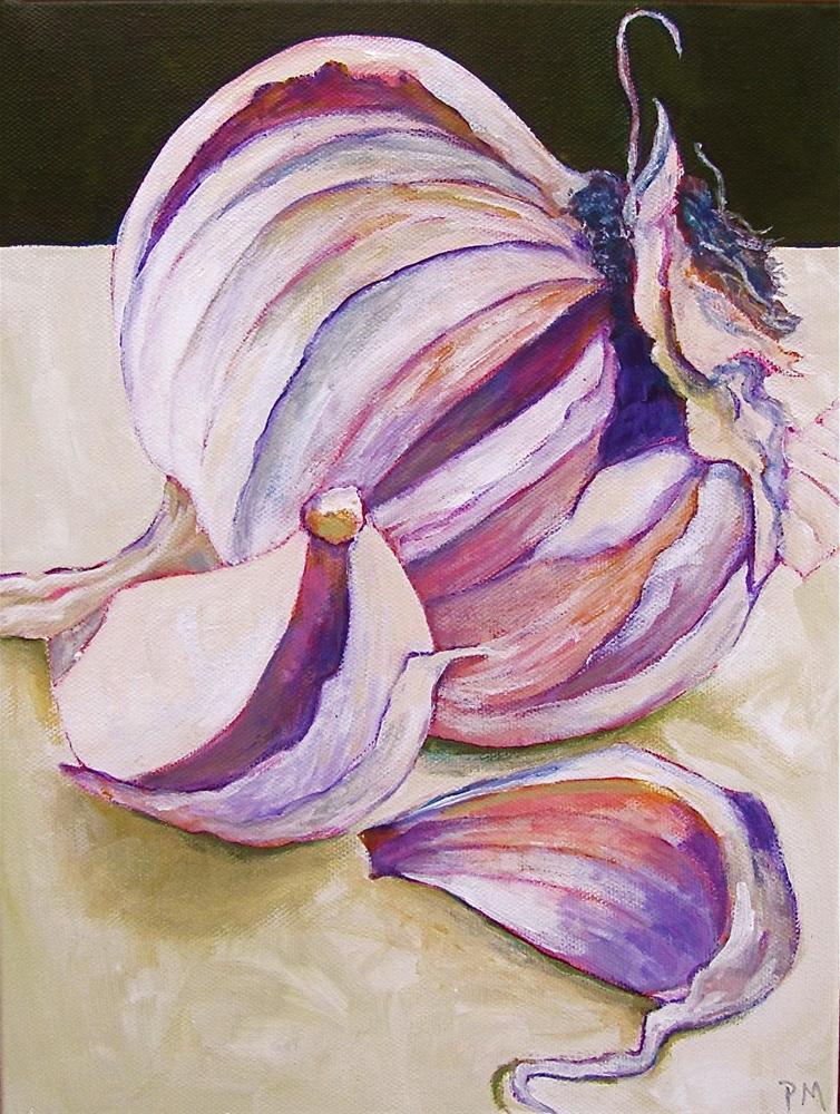 """Garlic Love"" original fine art by Patricia MacDonald"