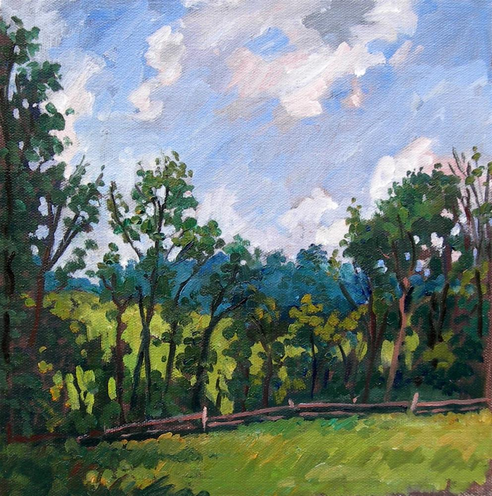 """Summer Trees, Backlight"" original fine art by Thor Wickstrom"