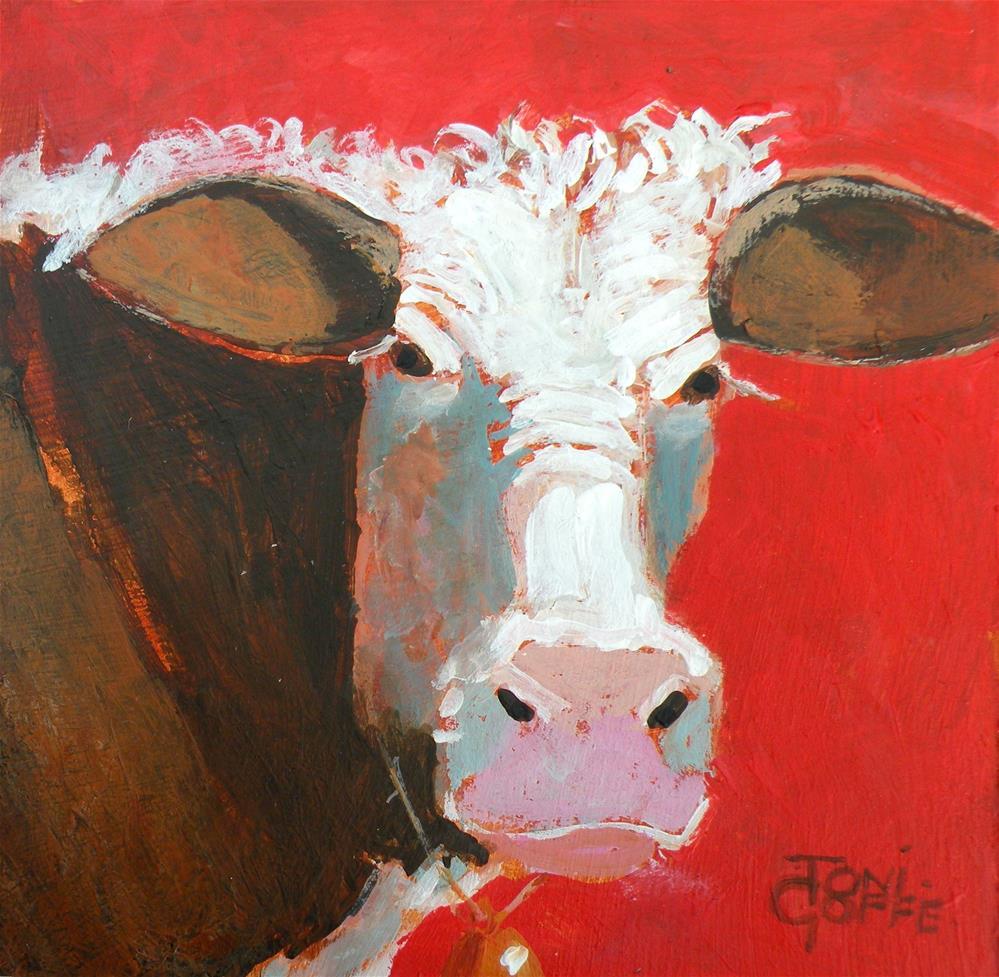 """Proper Cow"" original fine art by Toni Goffe"