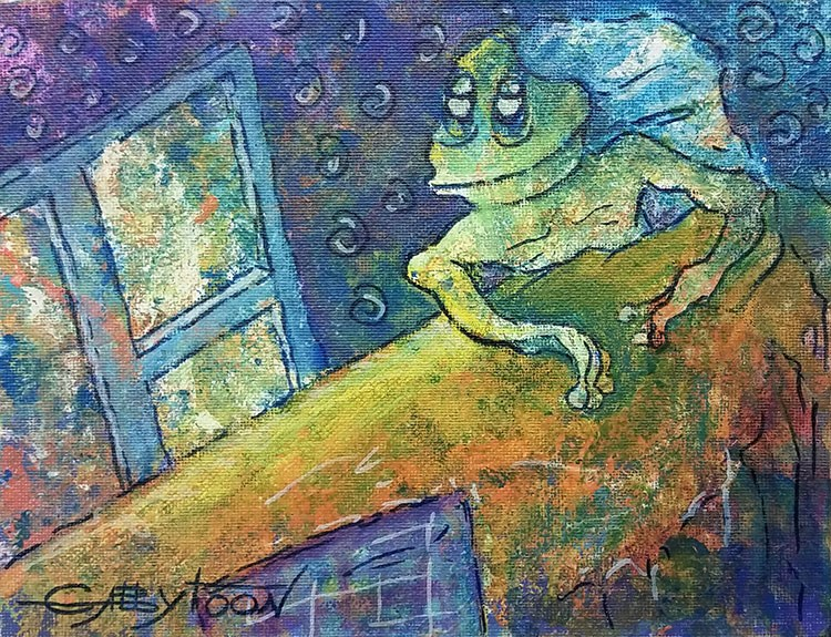 """Underwater Life"" original fine art by Gabriella DeLamater"
