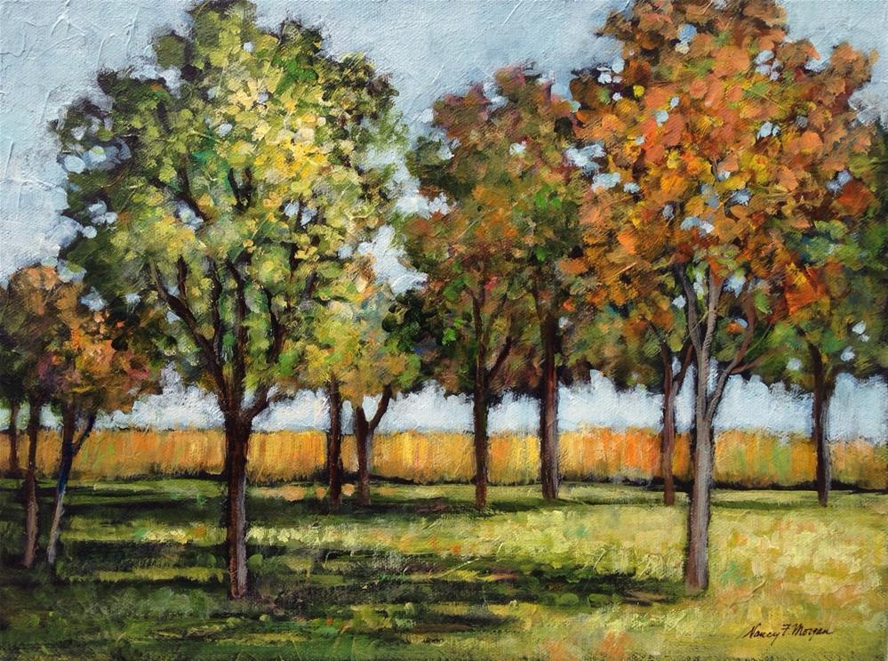 """September Song"" original fine art by Nancy F. Morgan"