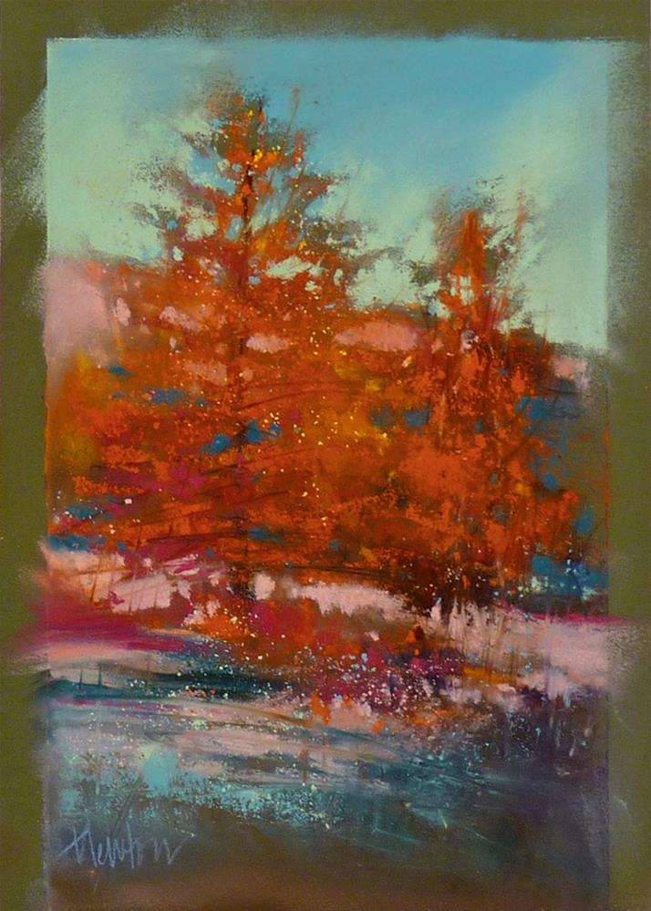 """Red Trees"" original fine art by Barbara Benedetti Newton"