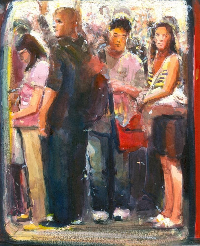 """Internal Congestion"" original fine art by Adebanji Alade"