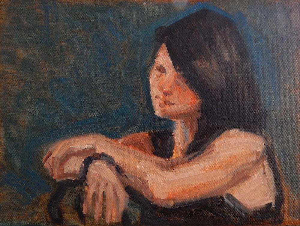 """Evening Model"" original fine art by Megan Schembre"