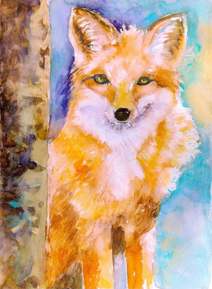 """Foxey"" original fine art by Reveille Kennedy"