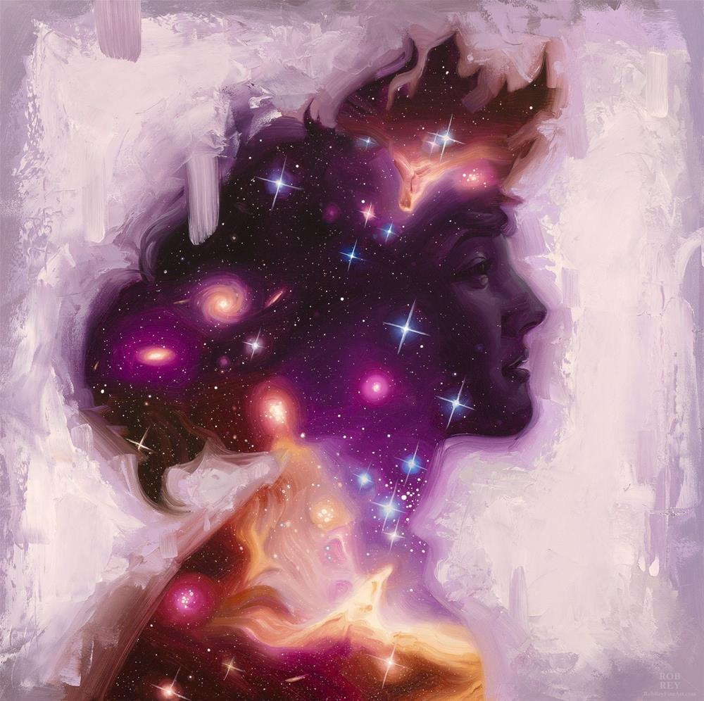 """Stardust Gazing Back"" original fine art by Rob  Rey"