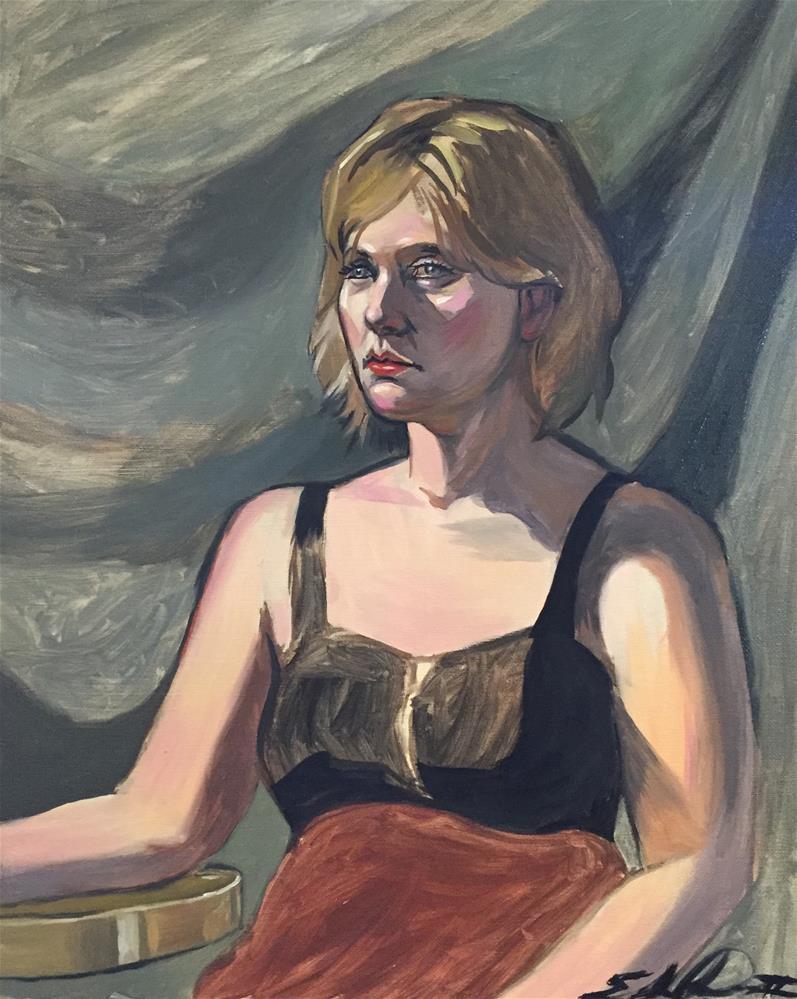 """""""Portrait of Bridget"""" original fine art by Eduardo Posadas"""