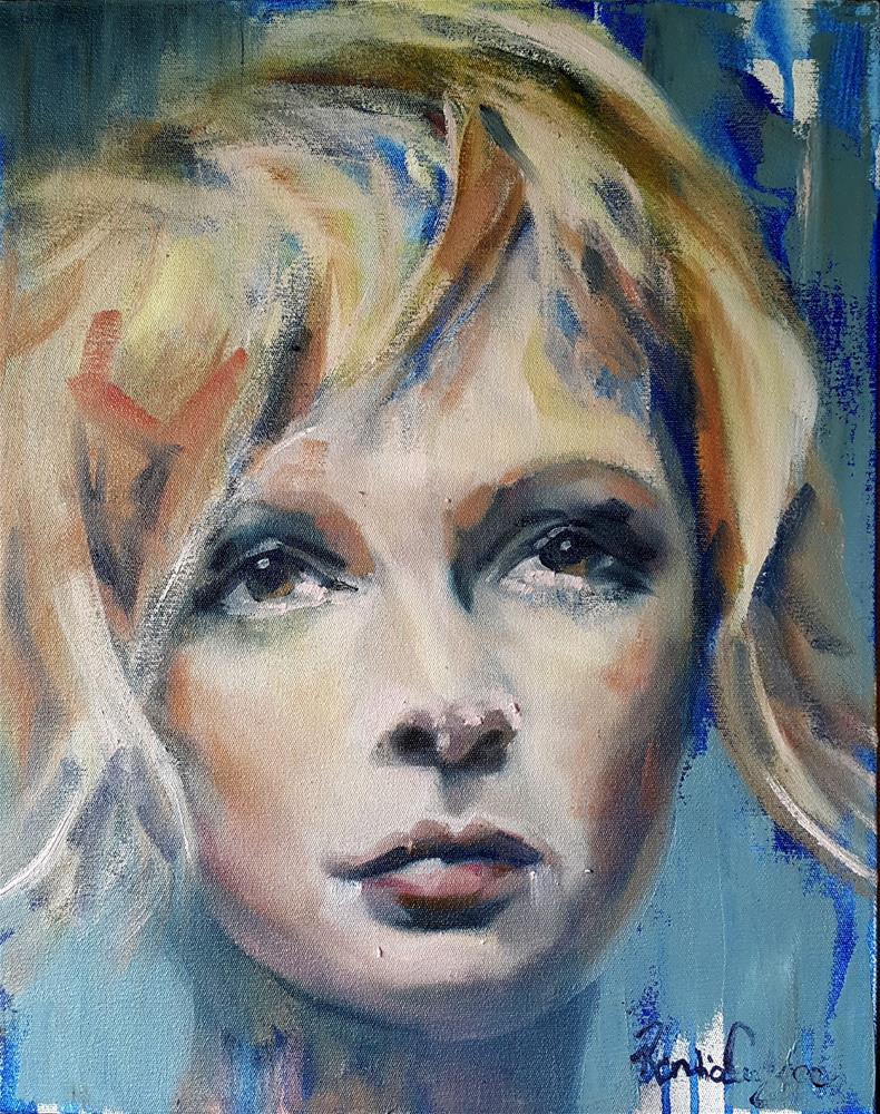 """feeling blue"" original fine art by Rentia Coetzee"