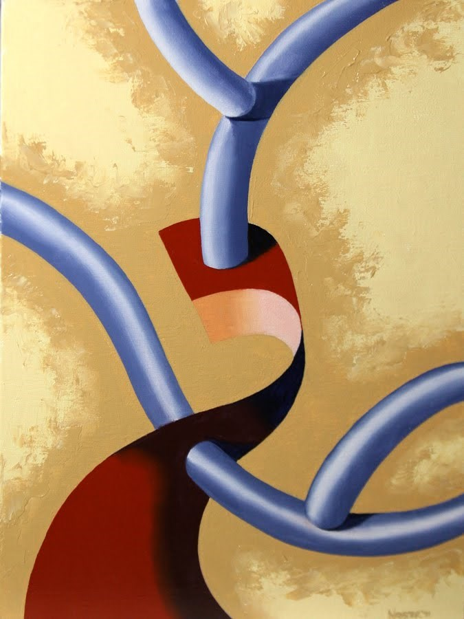 """Mark Webster - Abstraction 10 - Abstract Still Life Oil Painting"" original fine art by Mark Webster"