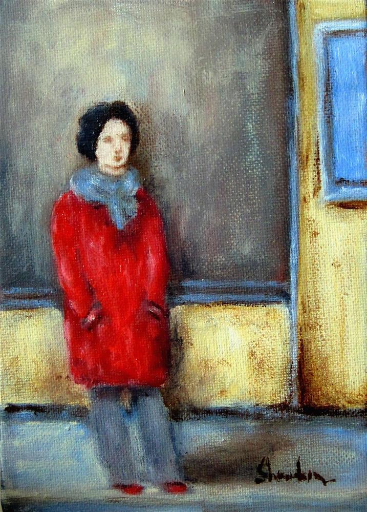 """Waiting Outside"" original fine art by Alpha Shanahan"