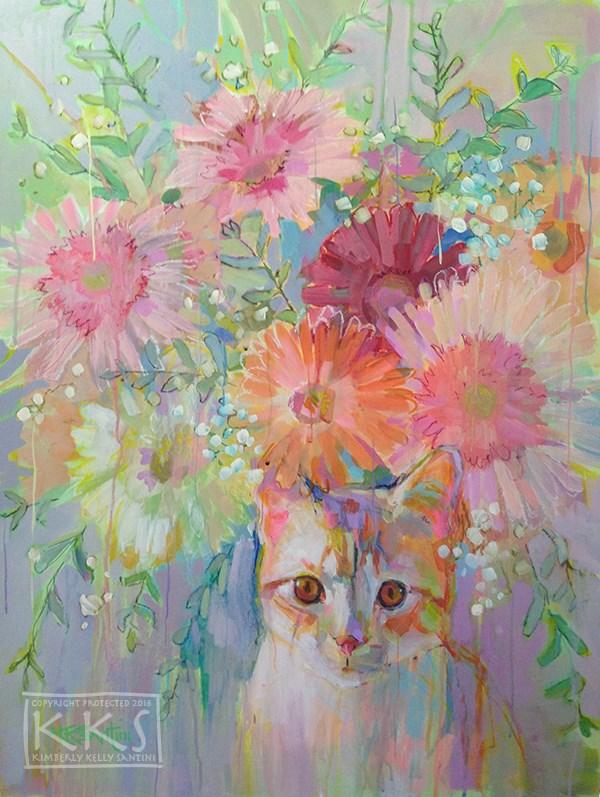 """Hobbes"" original fine art by Kimberly Santini"