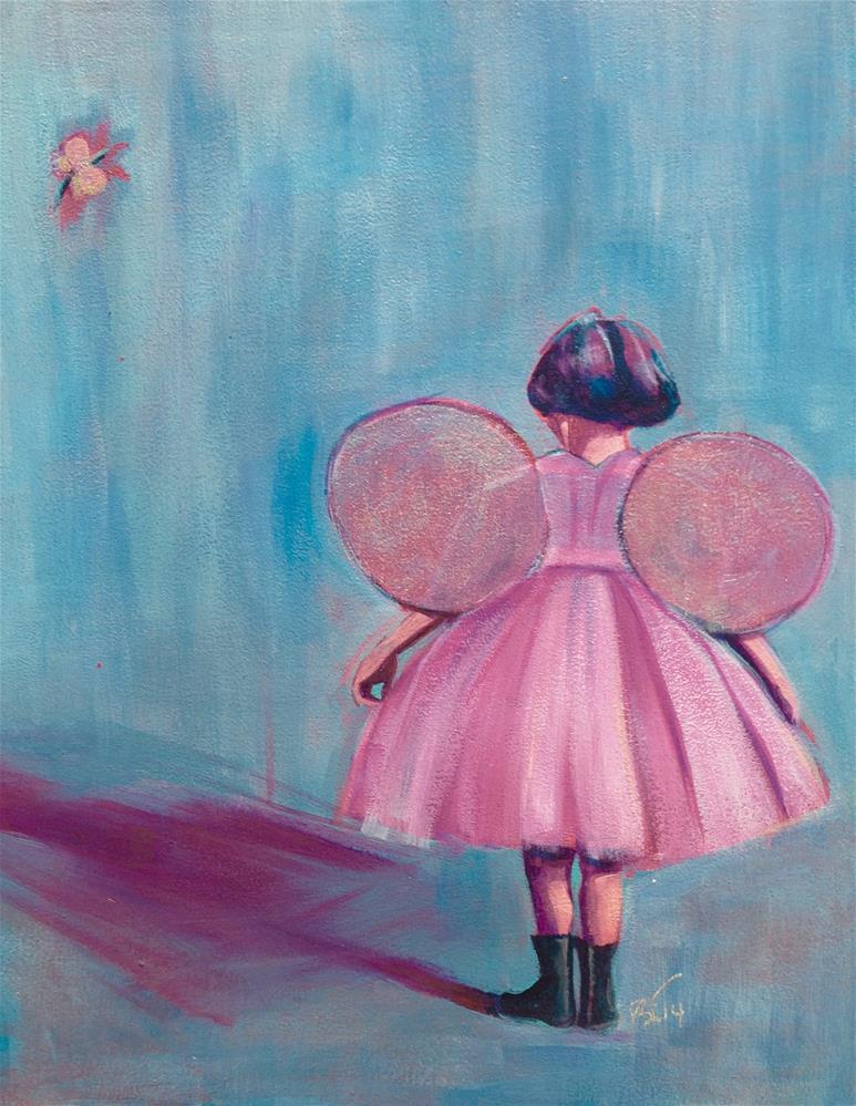 """""""Fairies"""" original fine art by Bev Thibault"""