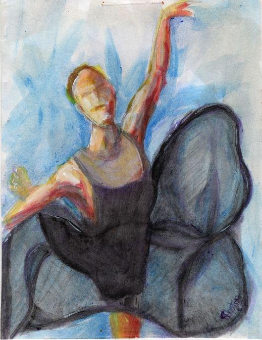 """Dance 11... the hidden language"" original fine art by Richard Huston"