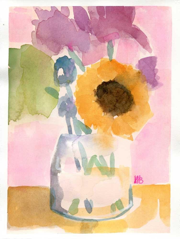 """""""But First Flowers"""" original fine art by Heather Bennett"""