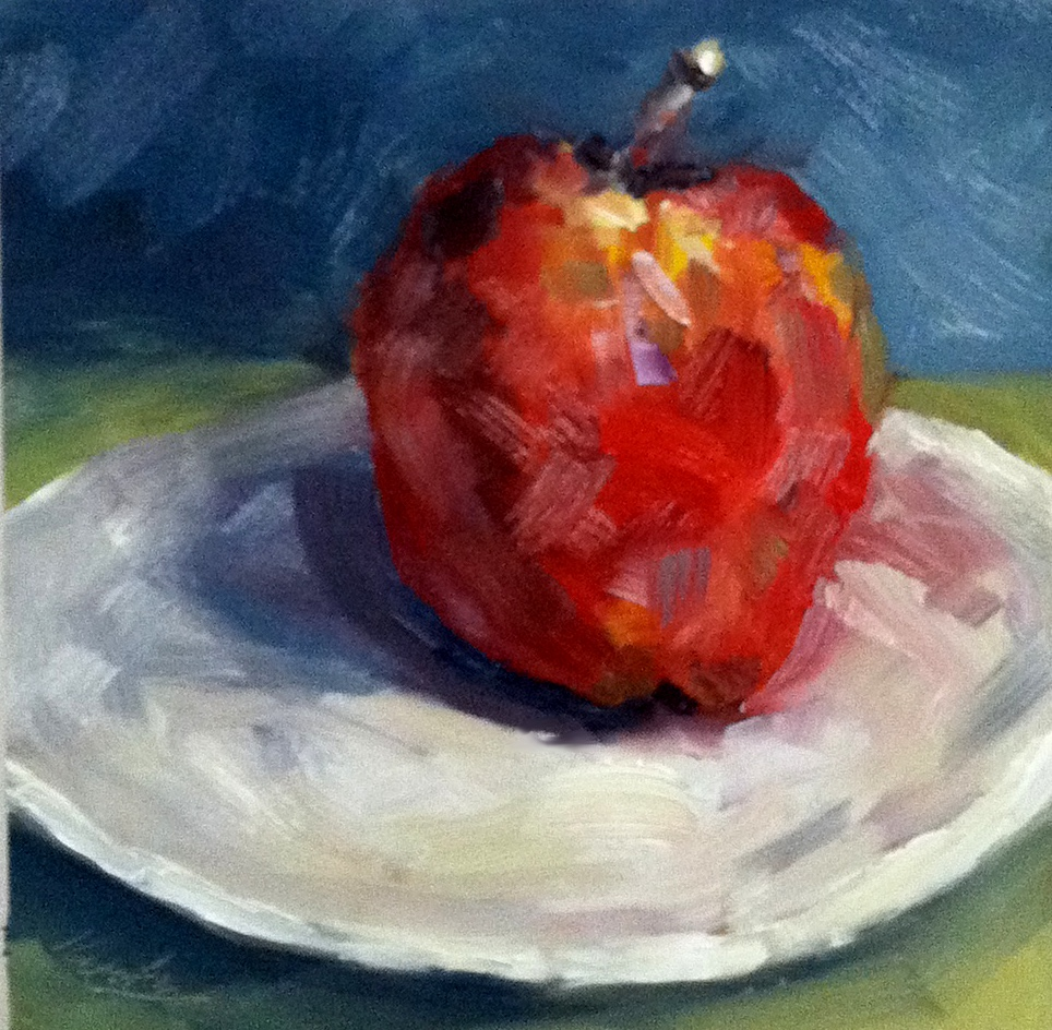 """An Apple a Day.....you know the rest."" original fine art by Kristen Dukat"